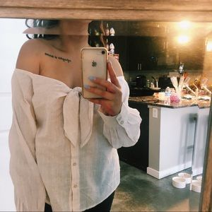 Free people. Off the shoulder. Long sleeve top